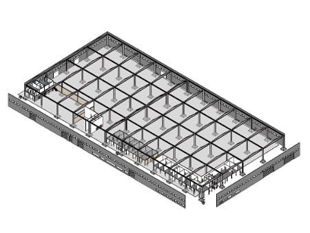3d BIM Spaccato architettonico